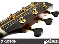 Gotoh SGV510Z special edition with brass string posts and BL5 buttons (black acrylic)